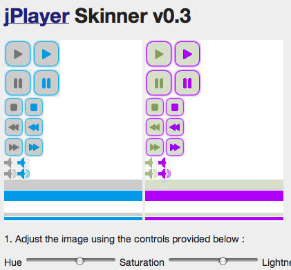 jPlayer Skinner v0.3