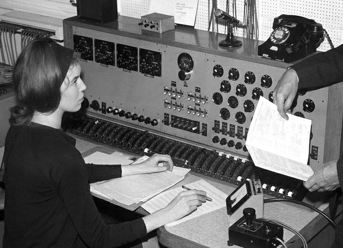 Delia Derbyshire at the BBC's Radiophonic Workshop